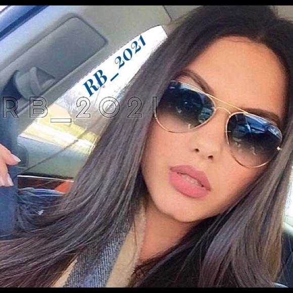 Ray Ban Aviator 3025 Gold Blue Gradient sunglasses